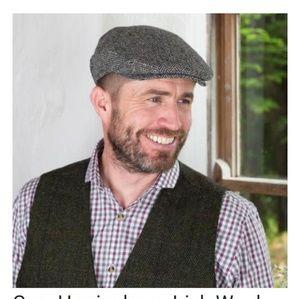 Other - Herringbone Newsboy Hat